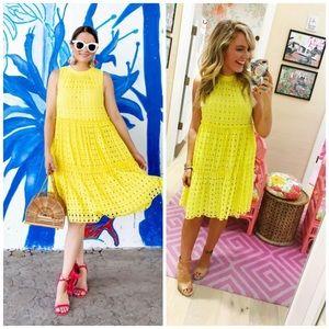 Lilly Pulitzer Indira Lemons Swing eyelet Dress M